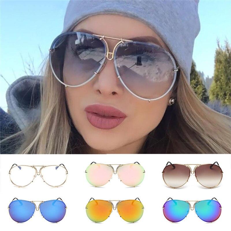 Nouveau mode lunettes de soleil femmes surdimensionné luxe lunettes de soleil femme Cool miroir UV400 dame lunettes nuances pour les femmes