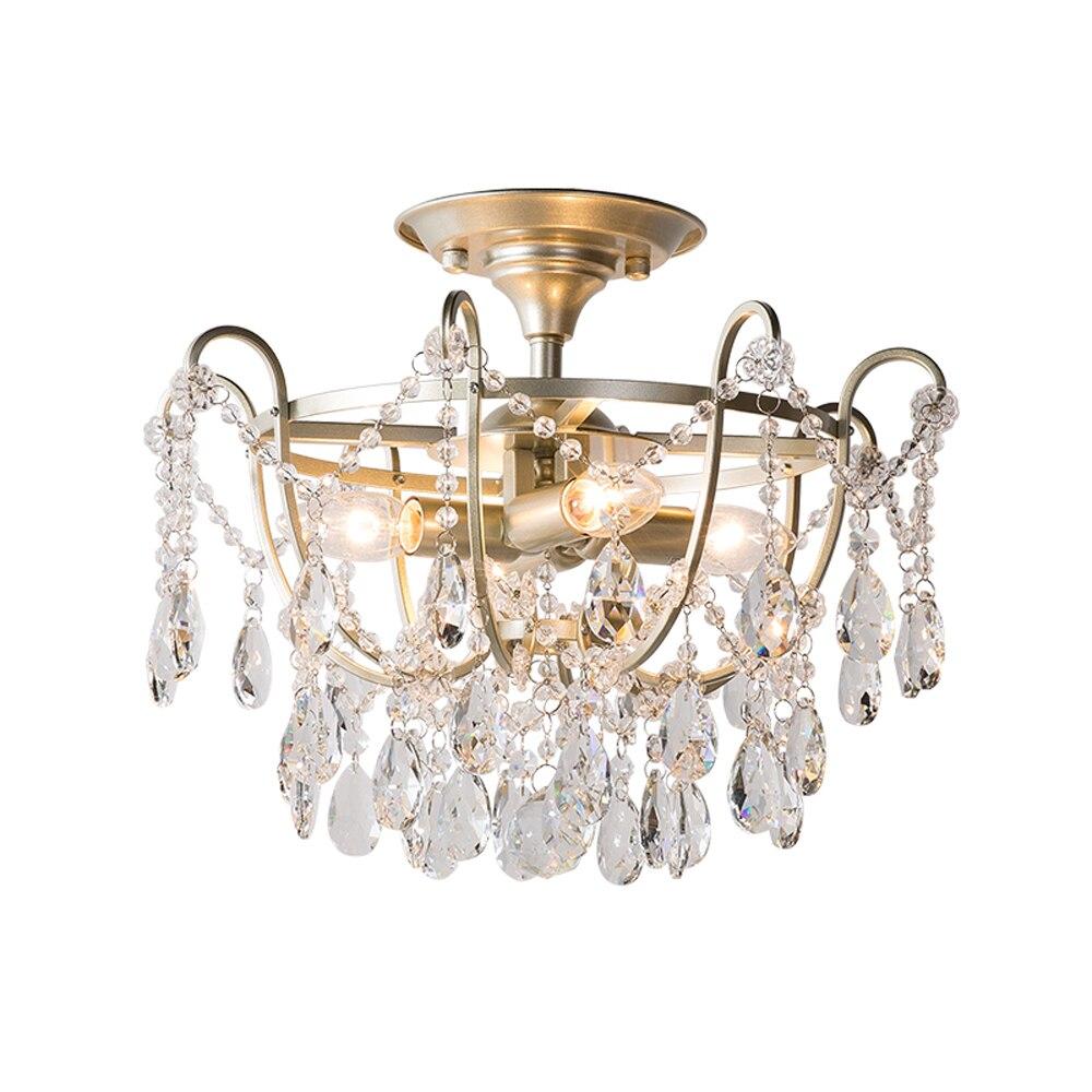 Novo design de cristal do ouro plafonier AC110V 220 v lustre de cristal lâmpada do teto luz moderno luzes do quarto corredor|Luzes de teto| |  - title=