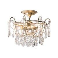 Novo design de cristal do ouro plafonier AC110V 220 v lustre de cristal lâmpada do teto luz moderno luzes do quarto corredor Luzes de teto     -
