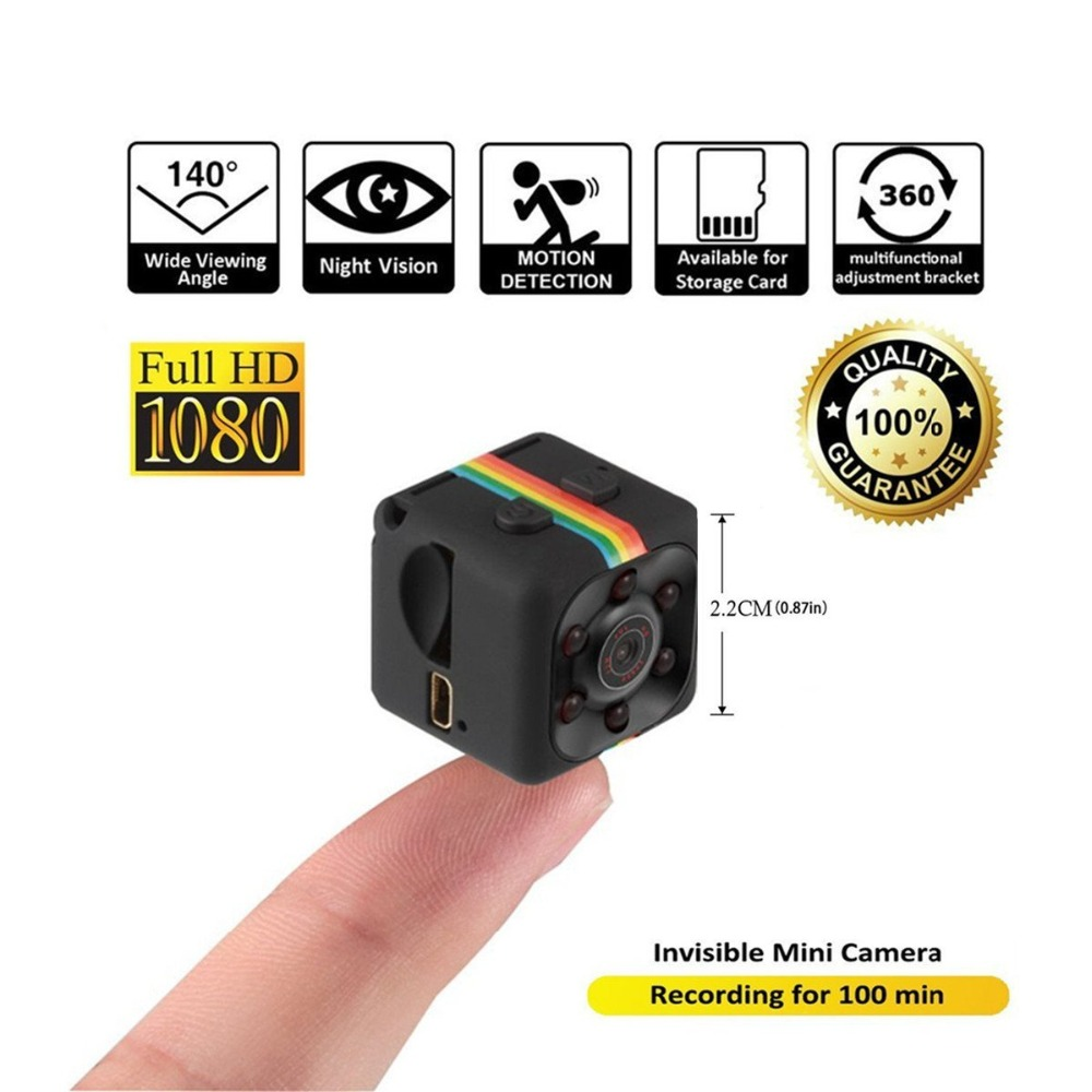 цена на SQ11 Mini Camera 1080P HD 360 degree Camcorder Lithium Battery Voice Video Recorder Sports DV Camera Support TF Card TV OUT