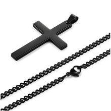 e992f2f76a91 Новый см 50 см Мода Титан Сталь крест цепочки и ожерелья Кулон нержавеющая  сталь ювелирные изделия