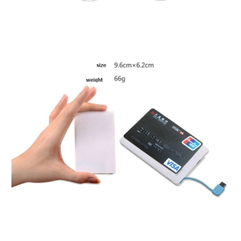 Portuable Mini Card slim powerbank 2600 mAH battery For iPhone Samsung Xiaomi