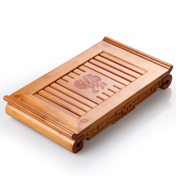 Bamboo tea tray kung fu tea tray tea table home or office water storage drawer type teaboard Chinese wind onsale!