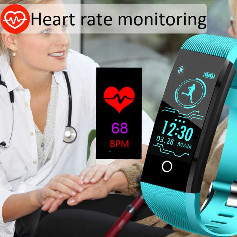 BANGWEI 2019 nouveau bracelet intelligent traqueur de fréquence cardiaque pression artérielle oxygène Fitness bracelet IP68 étanche montre intelligente hommes femmes
