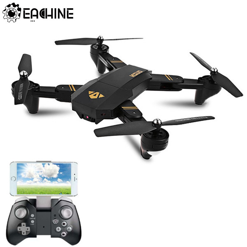 цена на Eachine VISUO XS809HW WIFI FPV With Wide Angle HD Camera High Hold Mode Foldable Arm RC Quadcopter RTF RC Helicopter Toys