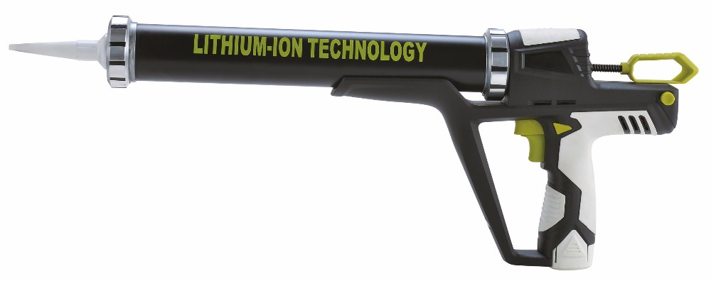 CE Certification Lithium Battery Electric Caulking Gun Packed By Tool Bag For Both Sausage And Cartridge Sealant Use BC-1425