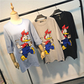 Women Daisy Duck Character Print Cartoon T-shirts Female Summer Harajuku Oversized Casual Tee Tops Jersey