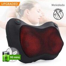 Massage Pillow Neck Back Massager With Heat, Shiatsu Deep Kneading For Shoulder Leg Foot Massage Home Car Massage Pillow D30 недорого