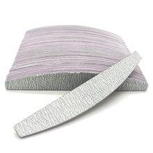 50Pcs Brand Nail Files 100/180 Manicure Buffing Buffer Professional Sanding Half Moon Salon Nail Art File Tools Beauty Wholesale