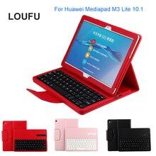 Loufu  Magnet Bluetooth Keyboard 4.0 For Huawei Mediapad M3 Lite 10.1 Keyboard Cover For Huawei M3 Lite 10 Case Dropshipping