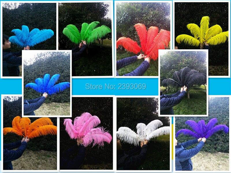 Commercio all'ingrosso! 50 pz di Alta Qualità Duro Rod pink Ostrich Feather 24 26 in/60 65 cm, Piuma naturale Decorazione Ornamento - 3