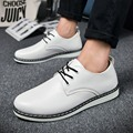 Men Casual Shoes 2016 Spring Autumn Hot Sale Men Flats High Quality Lace Up Size(39-44) Black & White Men Casual Shoes l69 15