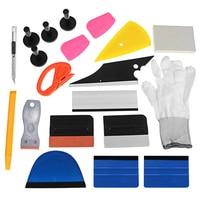 21Pcs Professional Car Window Wrap Vinyl Tools Kit Scratch free Squeegee Scraper Razor Glove Magnets Universal
