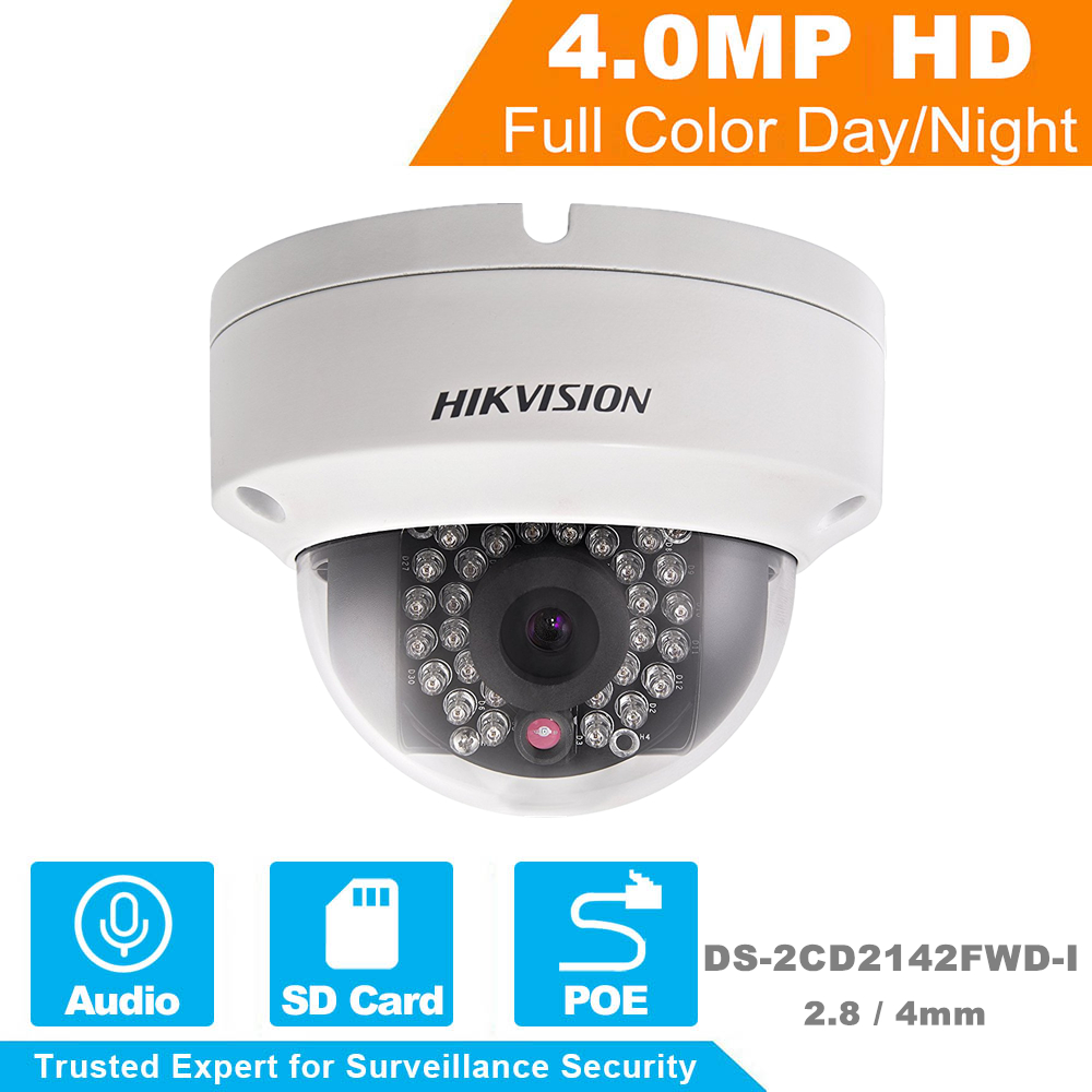 Hikvision HD Security Camera 1080P Indoor Outdoor 4 0MP Dome IP Camera Support Onvif POE DS