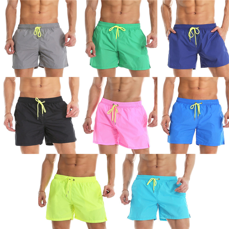 Mens Swimwear Swim   Shorts   With Mesh Lining Trunks Beach   Board     Shorts   Swimming   Short   Pants Mens Running Sports Surffing   shorts