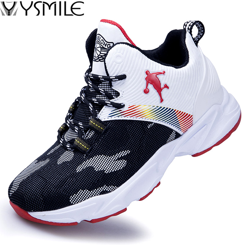 Kids Sneakers Basket Trainer Sport-Shoes Non-Slip Boys Children Outdoor Top Sole Soft