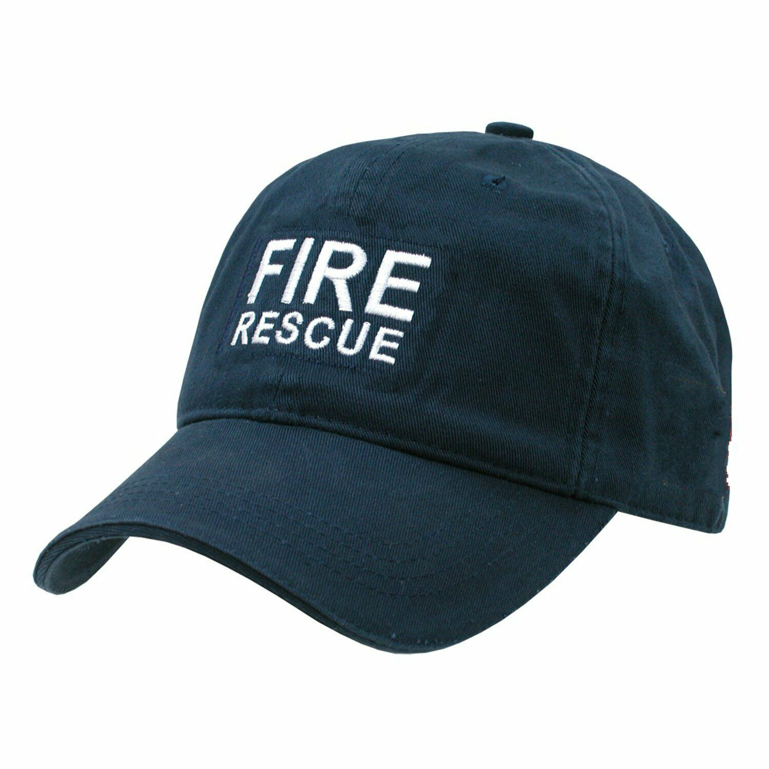 Navy Blue Printing Fire Rescue Polo Style Raid   Baseball     Cap     Caps   Hat