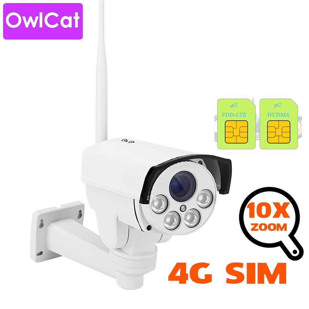 OwlCat 3G 4G SIM Card IP Camera WiFi SONY CMOS 5X 10x Optical Zoom PTZ Surveillance