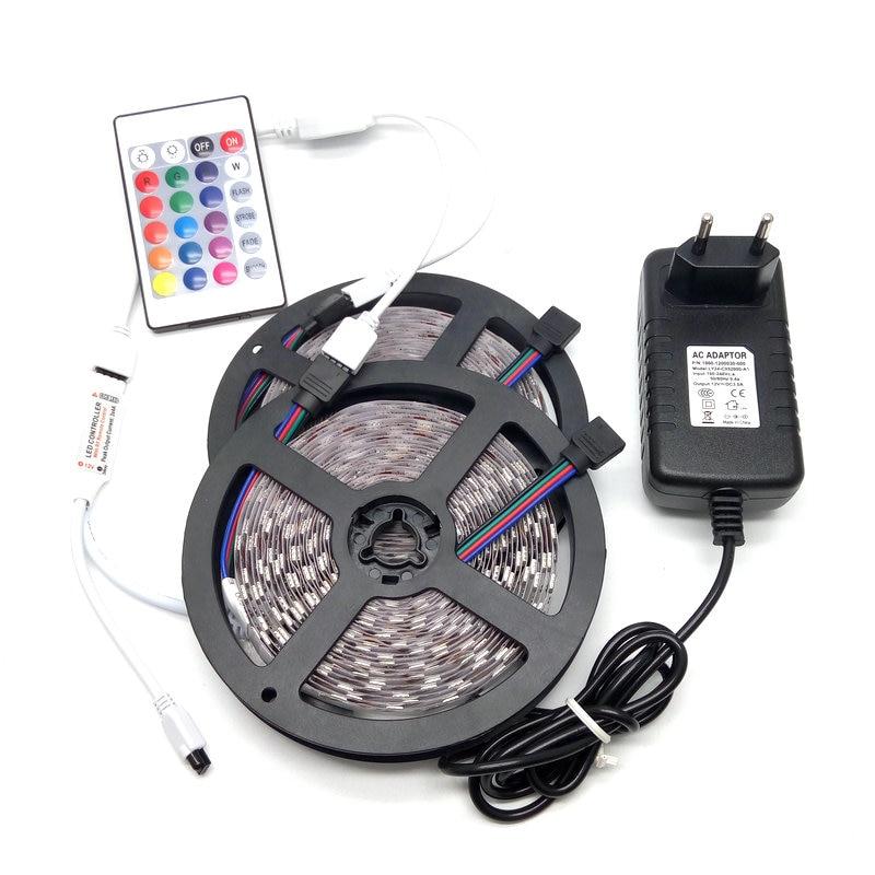 10M SMD 5050 RGB LED Stripsats 60LED / M Heminredning Belysning - LED-belysning