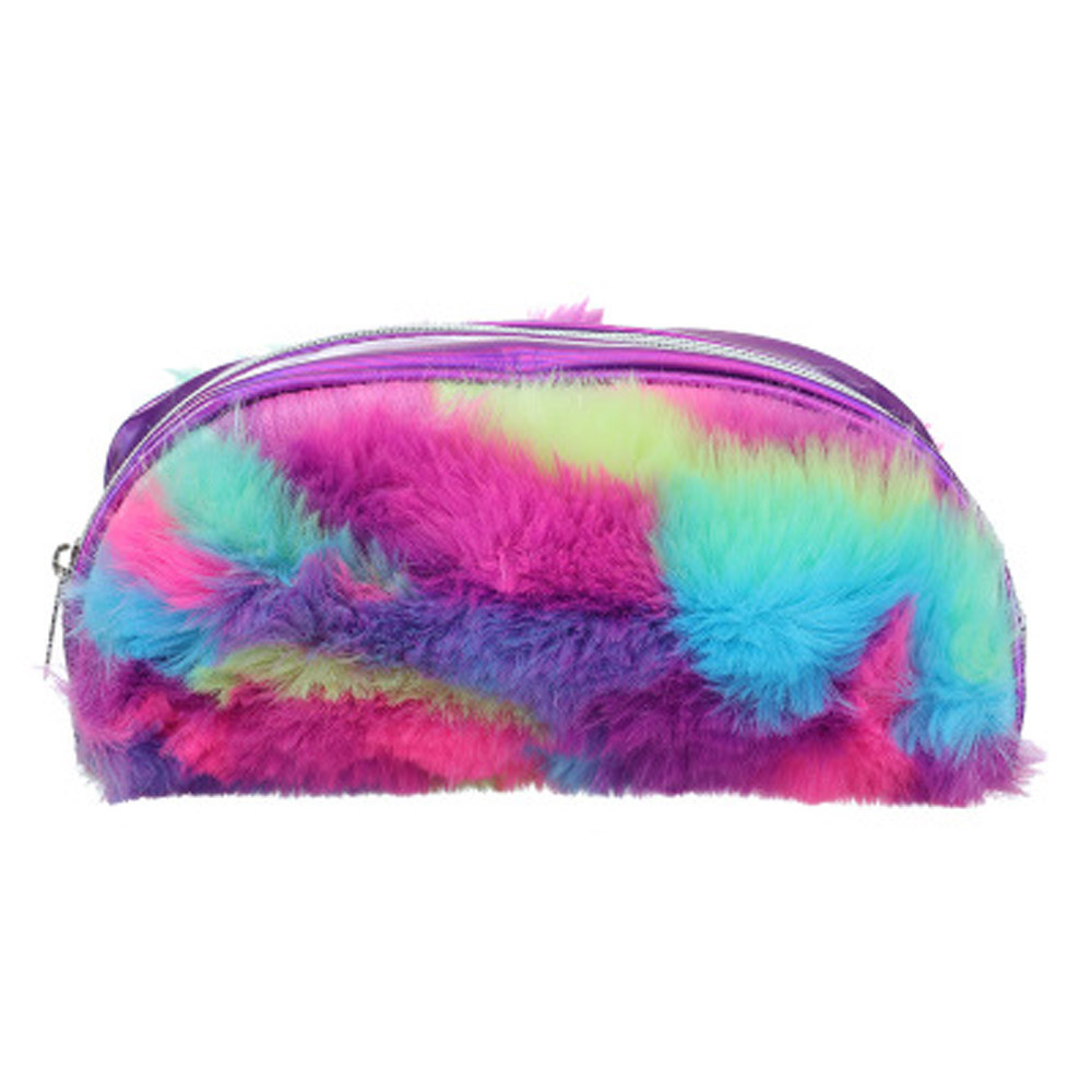 Faux Fur Cosmetic Pouch Bag