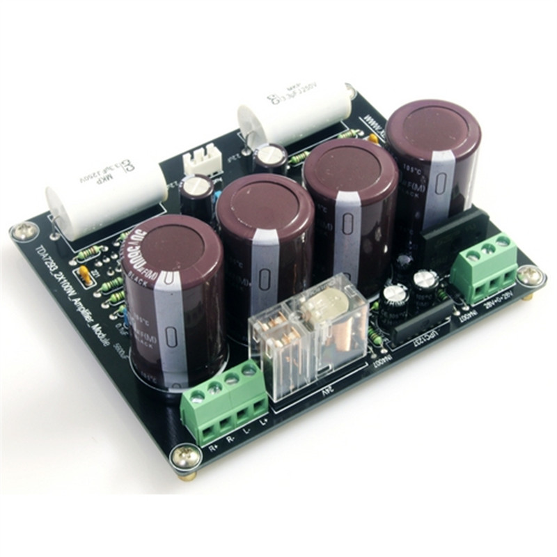 Omron relay Horn protection chip UPC1237 TDA7293 AC 28V 100W 2.0 Channel Current Feedback Amplifier Board DIY