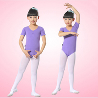 2016 New Fashion Children S Short Sleeve Female Gymnastics Ballet Tights Lycra Cotton Children S Dance