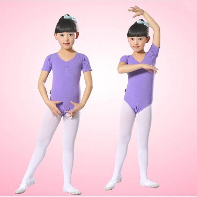 f281242d59a3 Ballet Leotards For Girl Short Sleeve Gymnastics Ballet Tights ...