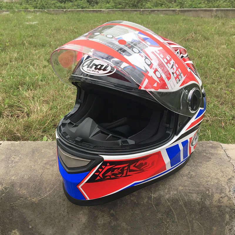 2018 Safety Double Glasses Full Face Helmets NO.27 Motorcycle Helmet With Inner Sun Visor Racing Helmet Size M L XL XXL high quality new design starwars carting helmets atv 2 motorcycle racing helmets dot full face exported to japan s m l xl xxl