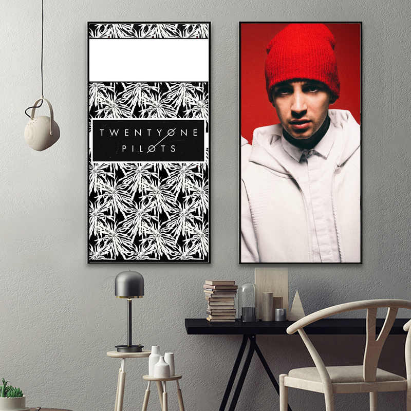 twenty one pilots fabric poster canvas painting abstract oil painting chinese painting wall pictures canvas print wall art canva