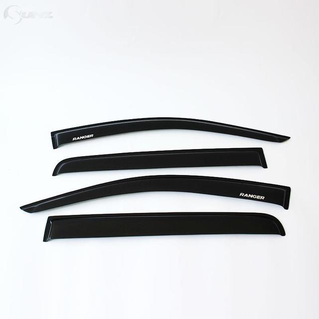 Side Window Deflectors For Ford Ranger Abs Black Color Car Wind Deflector Guard For Ford Ranger T6 2012-2014 Vent Door Visor