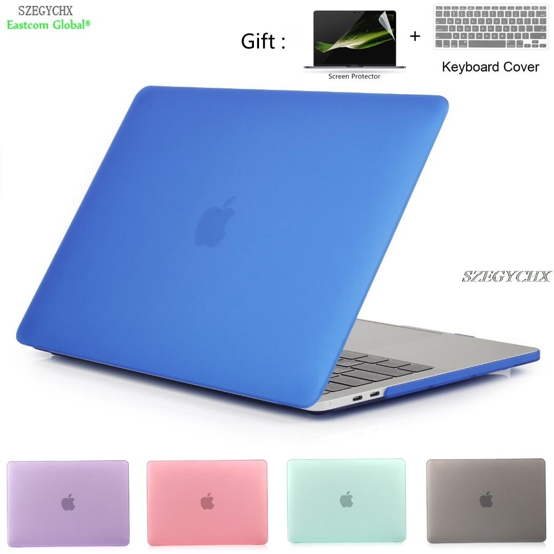 Crystal Matte Hard Case Laptop para Macbook Air 11 13 Pro Retina 12 13 15 barra táctil Para Macbook New Air 13 A1932 2018 cubierta de Shell