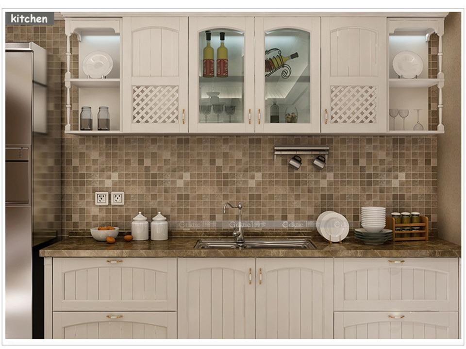 10M PVC mozaīkas sienas uzlīmes vannas istabai ar ūdensizturību - Mājas dekors - Foto 3