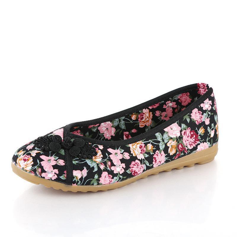 Toile Le Usure Pékin Confortable noir Chaussures Beige Folk rouge Vieux bleu Maman Style YfwrYX