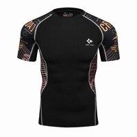 3D Printed T Shirts Men Compression Shirt Men S MMA Tshirt Short Sleeve Quick Dry Workout