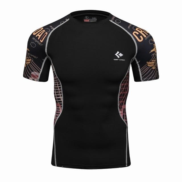 3D Printed T-shirts Men Compression Shirt Men's MMA Tshirt Short Sleeve Quick dry Workout Bodybuilding Fitness Tops T shirt