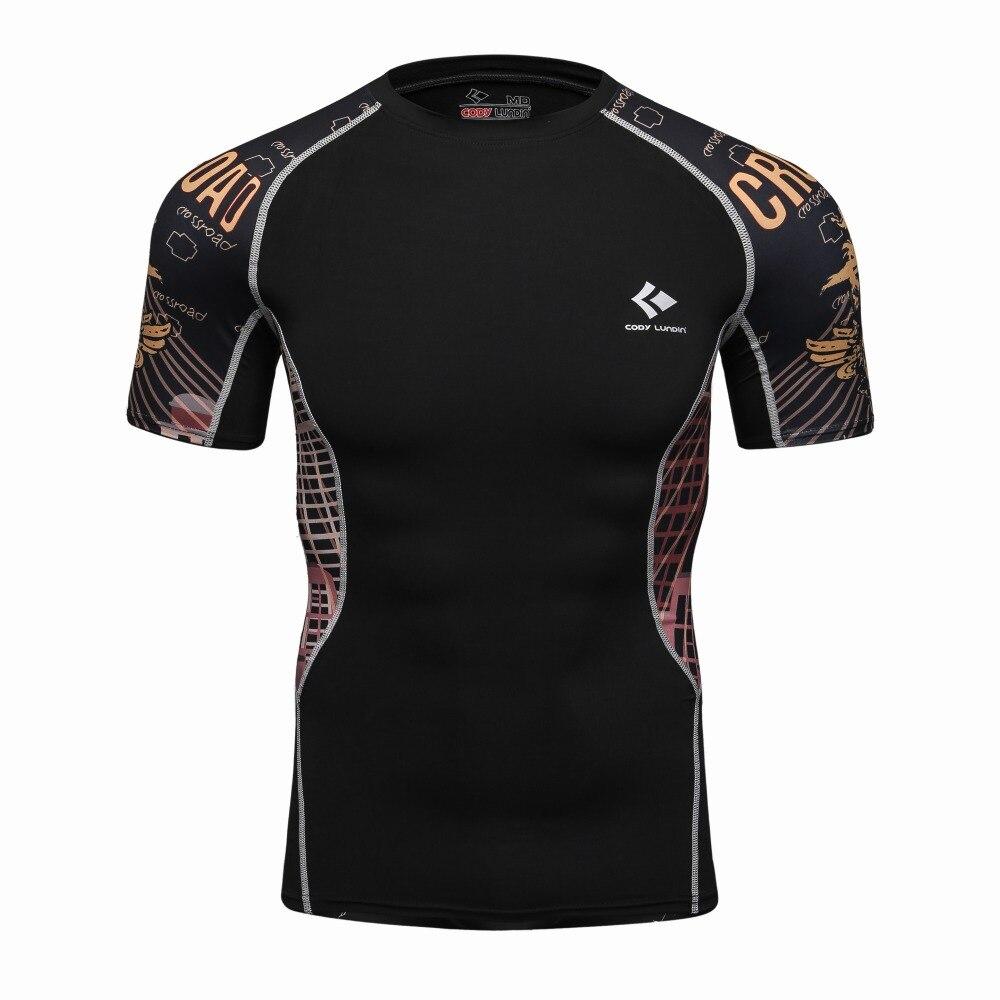 3D Printed   T  -  shirts   Men Compression   Shirt   Men's MMA Tshirt Short Sleeve Quick dry Workout Bodybuilding Fitness Tops   T     shirt
