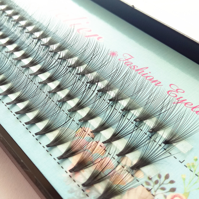 QSTY Big Capacity 60bundles 20D Eyelash Extensions 0.07 Thickness True Mink Strip Eyelashes Individual Lashes Natural Style