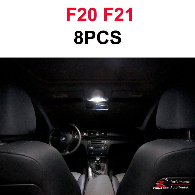 Идеальный ксеноновый белый Canbus без ошибок светодиодный купольная карта светильник комплект для BMW 1 серии E81 E87 E82 E88 F20 F21(2003 - Испускаемый цвет: 12-14 F20 F21(8PCS)