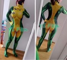 3D Freeshipping X-メンローグコスプレスーパーヒーローコスチュームスパンデックス プリント女性不正スーパーヒーロー全身タイツボディスーツタイトなタイツを