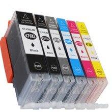 For PGI470 CLI471 PGI-470BK C LI-471 compatible ink cartridge for canon PIXMA MG5740 MG8640 Printer 12 pack pgi470 cli471 pgi 470bk cli 471 bk c m y gy compatible ink cartridge for canon pixma mg5740 mg8640 ts5040 ts6040