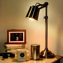 Kc лампы чердак американский стиль ретро спальня ночники железа меди вращающийся рабочий стол творческий