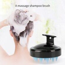 Spa Slimming Massage Comb Silicone Head Body Shampoo Massage
