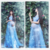 HI BLOOM Pregnant Maternity Women Fashion Photography Props Romantic Elegant Long Fairy Trailing Dress Photo Shoot
