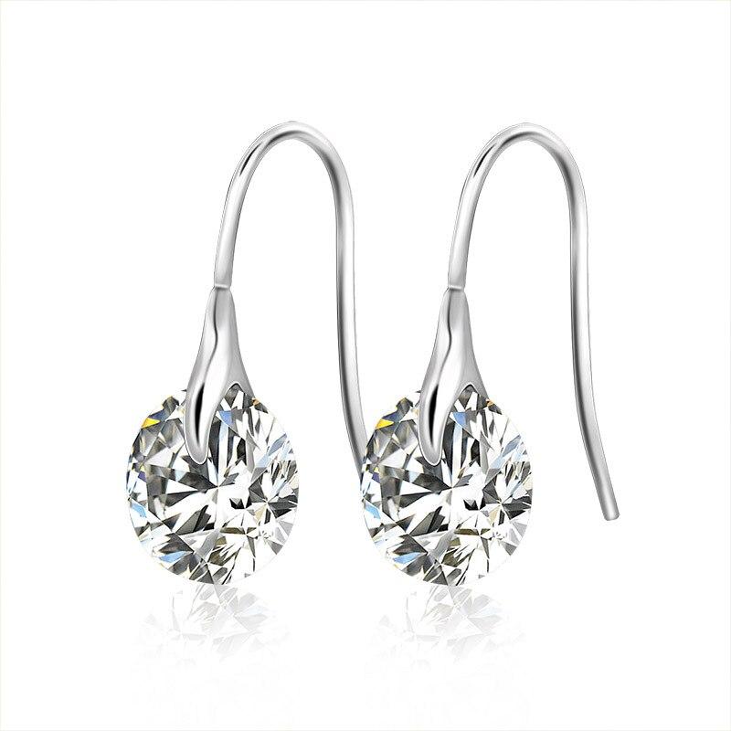 Beydodo Womens Gold Plated Earrings Stud Oval-Shape Cubic Ziconia Beydodo Jewelry