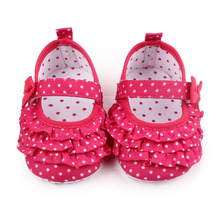 Cute Baby Girl Shoes Shallow Cotton Bordered First Step Soft Sole Baby Girl Dress Crib Shoes For 0-15 Months