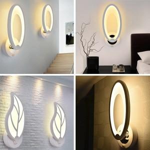 Image 5 - Candelabro de pared con interruptor para dormitorio, Hogar, baño moderno, iluminación interior, luminaria, decoración de escaleras, luces LED de pared