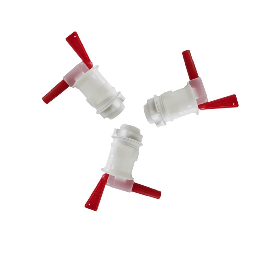 ølbrygger Flaskebøjle Plastic Spigot, Øl Knap udskiftning Homebrew Øl Spande Plast spigot, 3 stk / lot