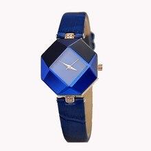 5 color jewelry Bracelet Watch fashion Women Watches high-quality Blue Jewel geometry quartz wrist watch gift relogio feminino