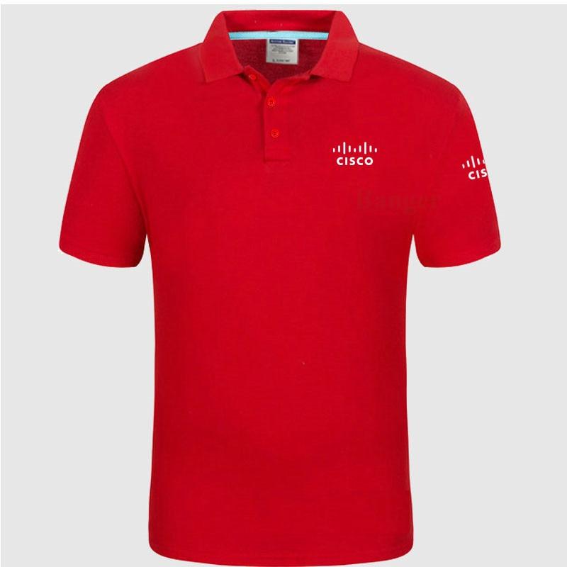 New Men's   Polo   Shirt CISCO logo Women Cotton Short Sleeve shirt clothesPlus Size XXXL