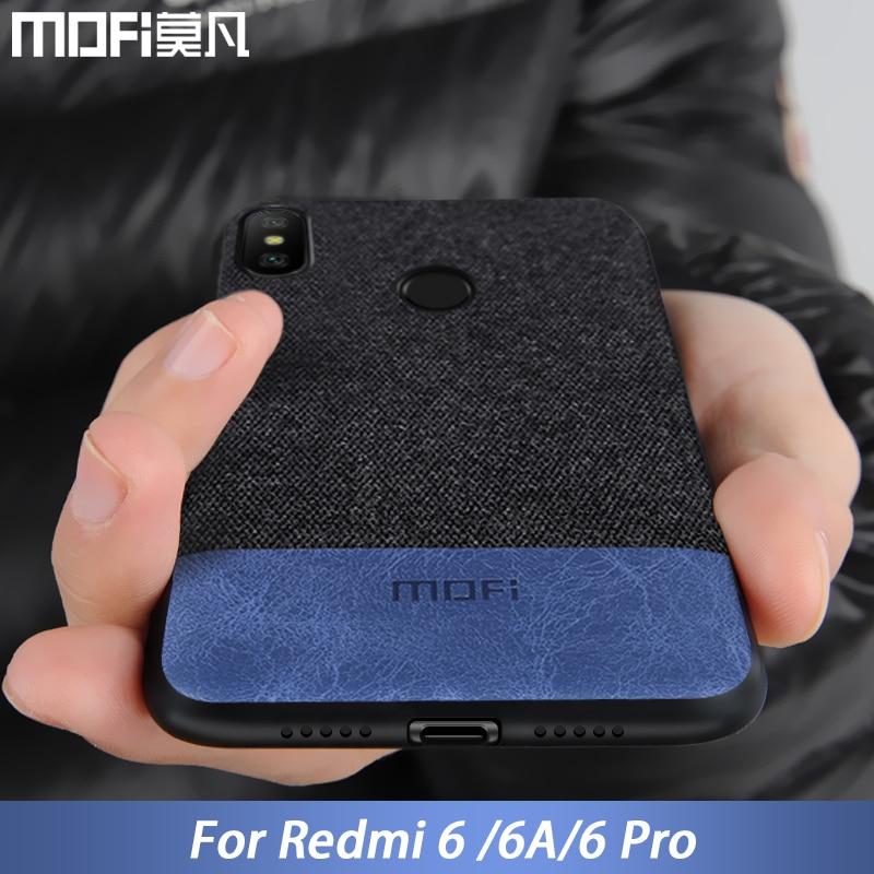 Xiaomi Redmi 6 case cover Redmi6 Pro back cover silicone edge fabric protective case capas coque MOFi original Redmi 6A case